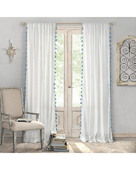 "Elrene Home Fashions - Bianca Tassel Curtain Panel, 52"" x 84"""