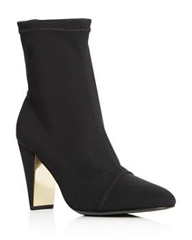 MARION PARKE - Women's Devon Cap Toe High-Heel Booties