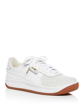 PUMA Women's California Exotic Color Block Leather Lace Up