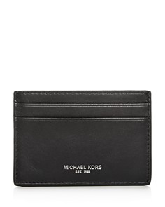 Michael Kors - Henry Leather Money Clip Card Case