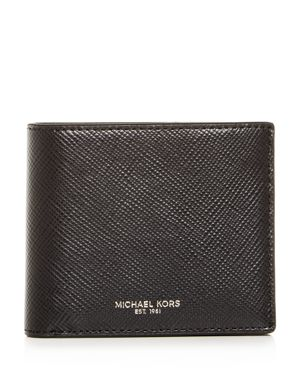 Michael Kors Harrison Crossgrain Leather Bi-Fold Wallet