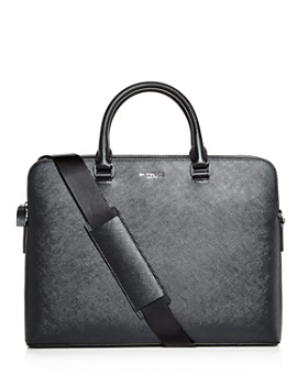 Michael Kors - Harrison Crossgrain Leather Briefcase
