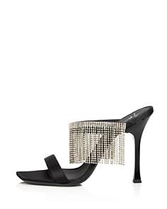Giuseppe Zanotti - Women's Asymmetrical Toe Crystal Fringe High-Heel Slide Sandals