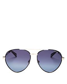 Polaroid - Men's Polarized Aviator Sunglasses, 56mm