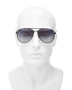 rag & bone - Men's Brow Bar Aviator Sunglasses, 58mm