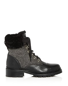 Frye - Women's Samantha Shearling Cap-Toe Hiking Booties