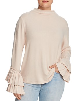 B Collection by Bobeau Curvy - Linda Ruffle-Sleeve Top