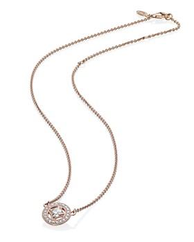 "PANDORA - Vintage Allure Rose Gold Tone Pendant Necklace, 17.72"""