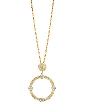 GUMUCHIAN 18K Yellow Gold Carousel Diamond Pendant Necklace, 16 in White/Gold