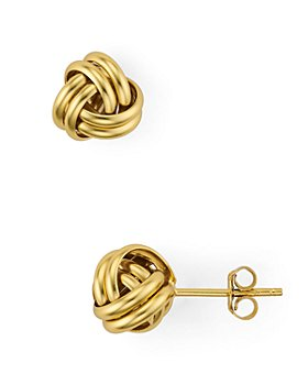 AQUA - Love Knot Stud Earrings in 18K Gold-Plated Sterling Silver - 100% Exclusive
