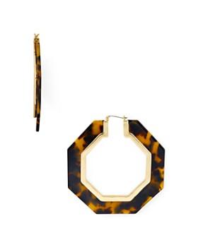 Rebecca Minkoff - Octagonal Resin Tortoise Drop Earrings