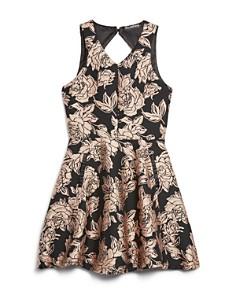 Miss Behave - Girls' Lexi Brocade Dress - Big Kid