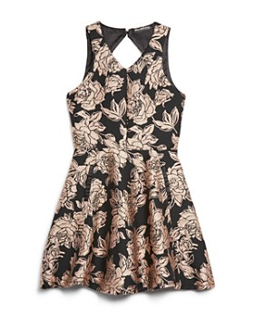Miss Behave - Girls' Lexi Brocade Dress - Big Kid