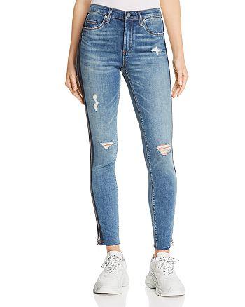BLANKNYC Zip Tuxedo Stripe Skinny Jeans in Jersey Girl ...