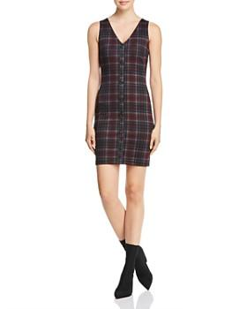 AQUA - Plaid Button-Front Dress - 100% Exclusive