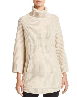 Raelynn Turtleneck Sweater, Cream Heather