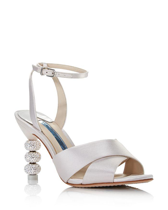 Sophia Webster Women's Natalia 85 Crisscross High-Heel Sandals In Soft Ivory