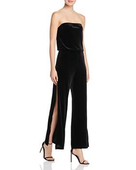 AQUA - Velvet Strapless Wide-Leg Jumpsuit - 100% Exclusive