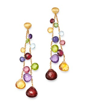 Marco Bicego - 18K Yellow Gold Paradise Amethyst, Tourmaline, Blue Topaz, Peridot, Citrine & Garnet Dangle Drop Earrings