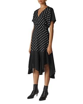 Whistles - Victoria Dot-Print Midi Dress ... 92e07961e