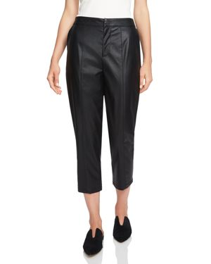 1.state Faux-Leather Cropped Pants