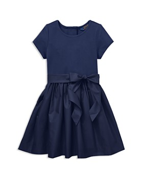 Ralph Lauren - Girls' Taffeta Shirt Dress with Sash - Little Kid