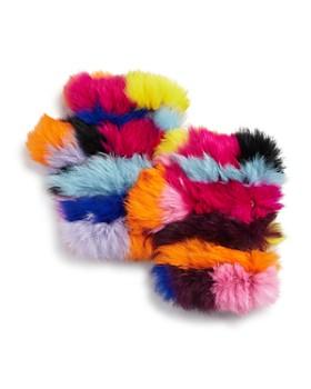 Jocelyn - Knit Rabbit Fur Fingerless Gloves