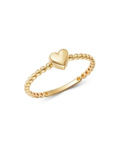 Moon & Meadow - 14K Yellow Gold Heart Ring - 100% Exclusive