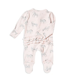 Angel Dear - Girls' Zebra-Print Footie - Baby