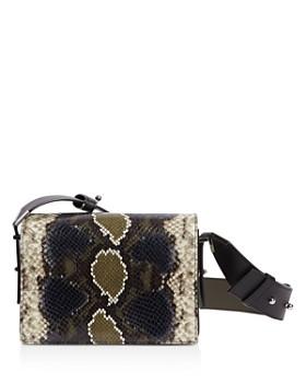 ALLSAINTS - Versailles Small Snakeskin-Embossed Leather Crossbody