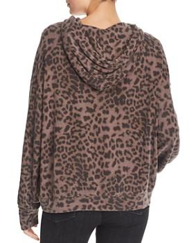 Sundry - Leopard Print Hooded Sweatshirt