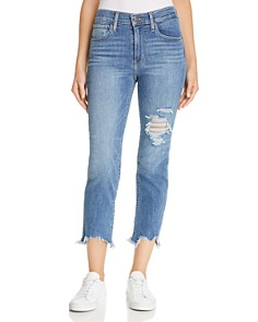 Levi's - 724 Straight Crop Jeans in Indigo Pixel