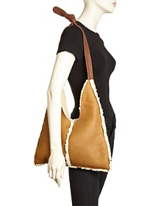 Arron - Small Shearling Shoulder Bag