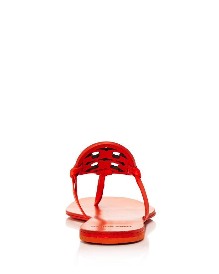 7393681ccd05 Tory Burch Women s Miller Square Toe Leather Thong Sandals ...