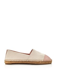 Tory Burch - Women's Color Block Leather & Canvas Espadrille Flats