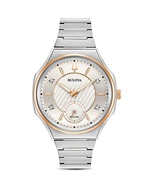 Bulova Curv Diamond Index Watch, 44.5mm