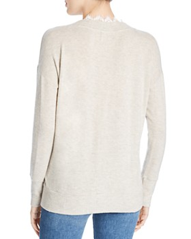 Three Dots - Lace Trim Sweater
