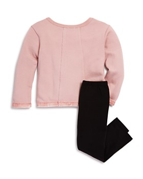 Splendid - Girls' Velvet-Trimmed Terry Sweatshirt & Leggings Set - Little Kid