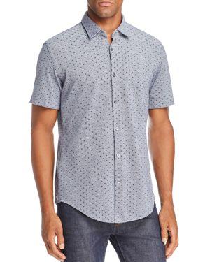 Boss Ronn Dobby Dot Slim Fit Button-Down Shirt