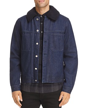 A.P.C. - Michigan Faux Shearling-Trimmed Denim Jacket