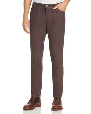 Double Eleven Slim Fit Corduroy Pants in Charcoal