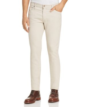 Double Eleven Slim Fit Corduroy Pants in Off-White