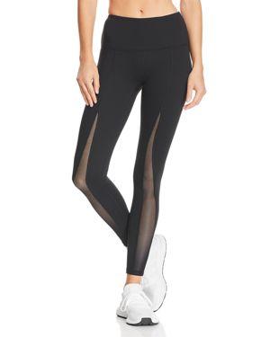 GAIAM X JESSICA BIEL Madison High-Rise Mesh-Inset Leggings in Black
