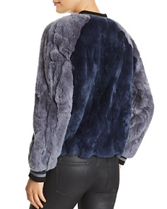 Heartloom - Scout Rabbit Fur Bomber Jacket