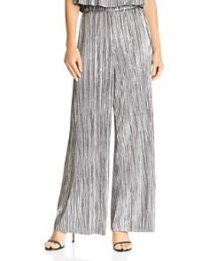 Lucy Paris - Bianca Metallic Wide-Leg Pants