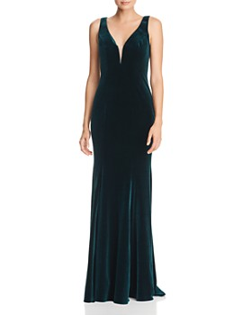 1298da0a29a4 AQUA - Velvet Column Gown - 100% Exclusive ...