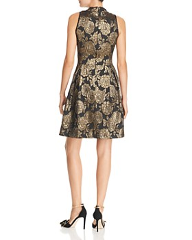 nanette Nanette Lepore - Metallic Floral Damask Dress