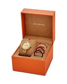 Tory Burch - The Reva Bangle Bracelet Watch Gift Set, 27mm