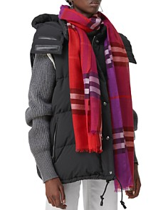 Burberry - Color-Block Check Scarf