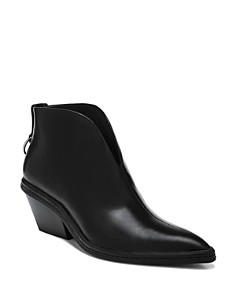 Via Spiga - Women's Fianna Pointed Toe Leather Ankle Booties